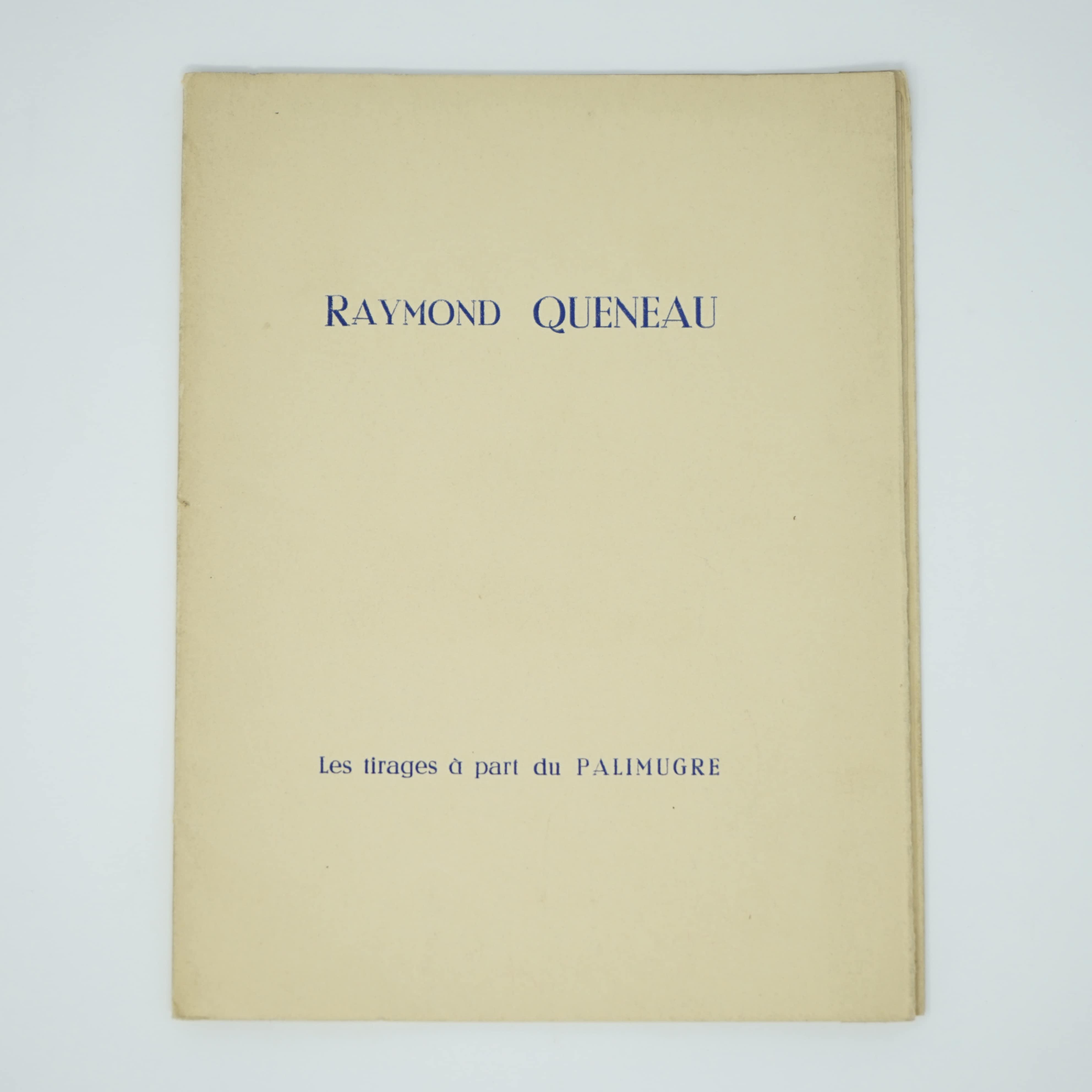 Livre Raymond Queneau Couverture