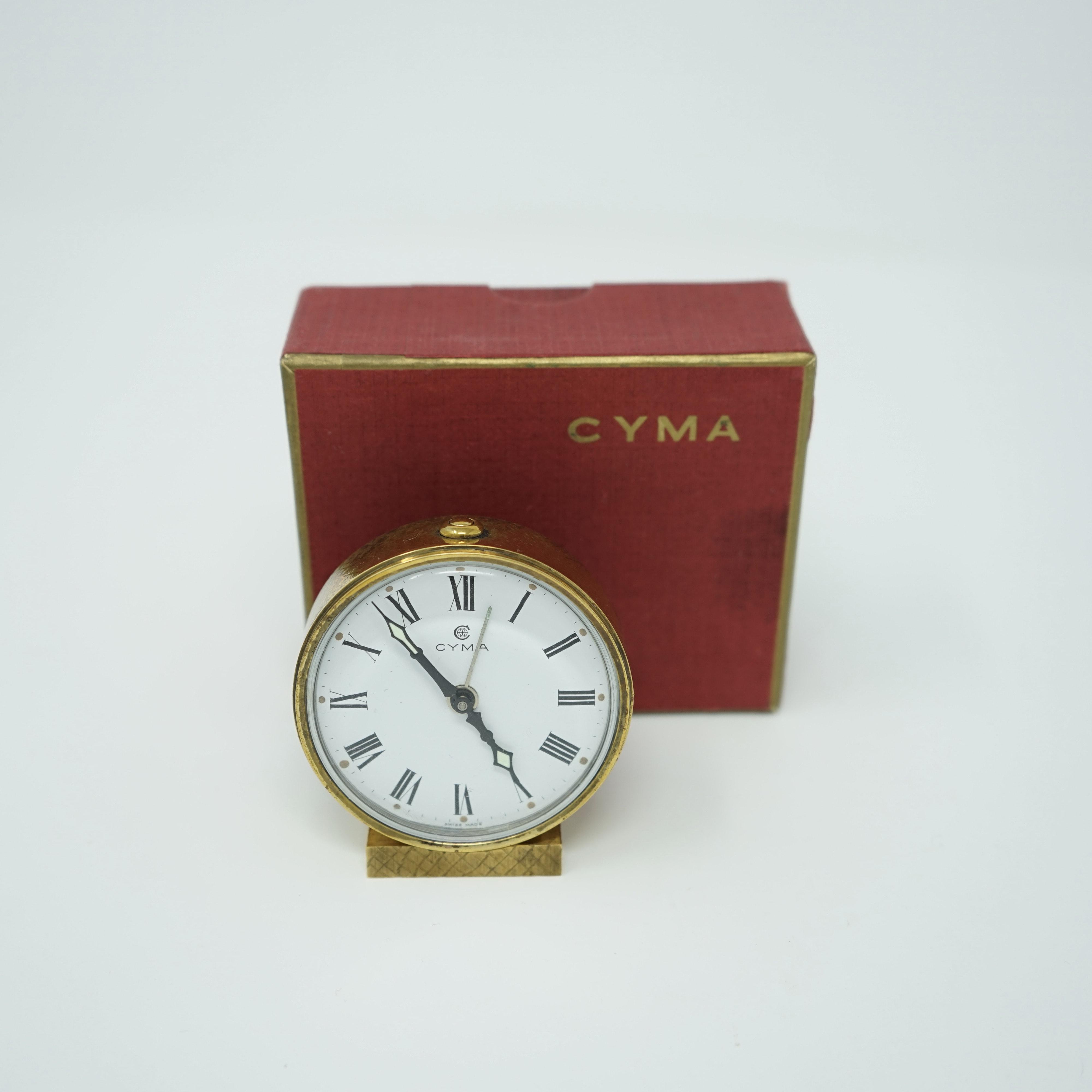 Réveil Mécanique Cyma avec Boîte avant
