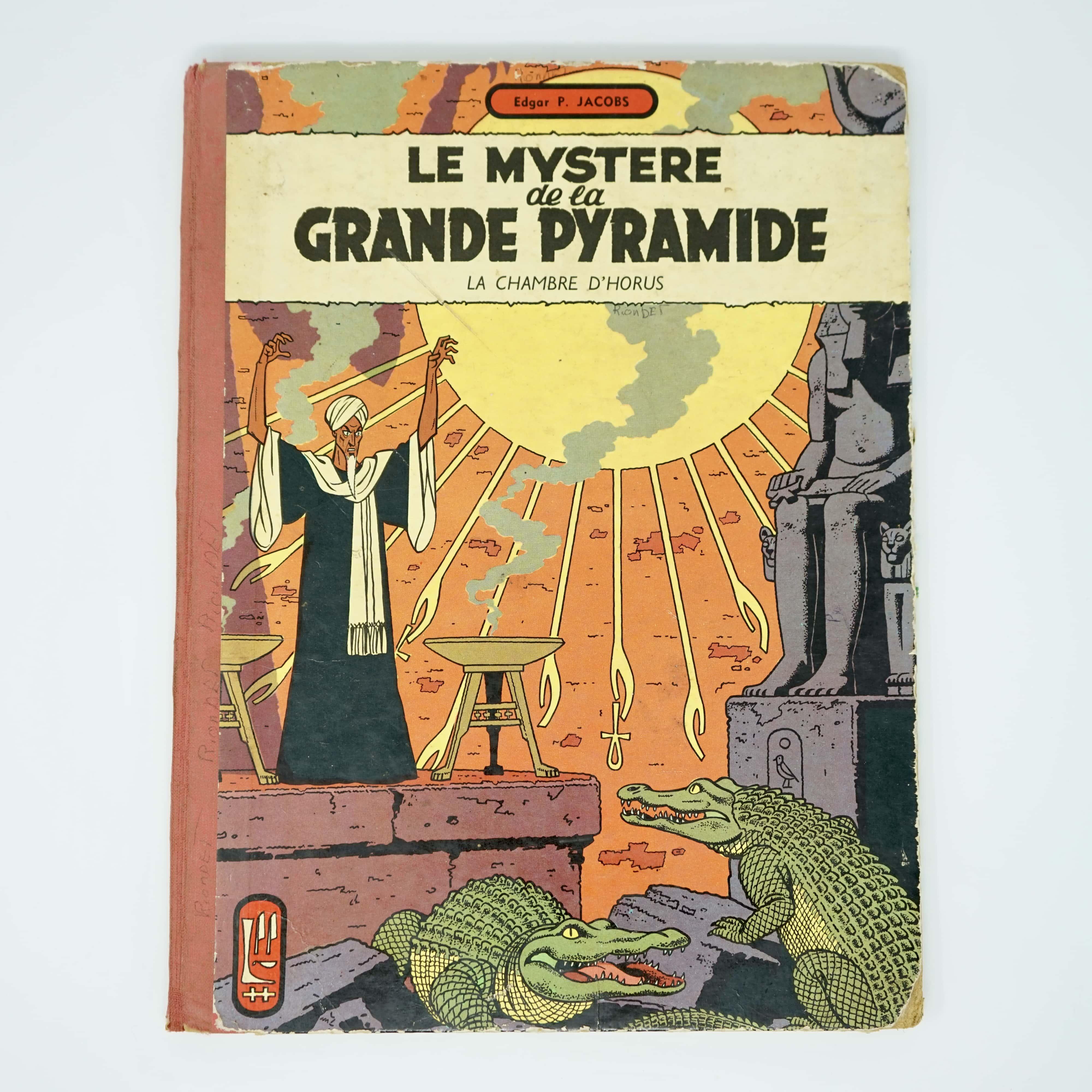 Album Bande Dessinée Le Mystère de la Grande Pyramide Blake et Mortimer Couverture