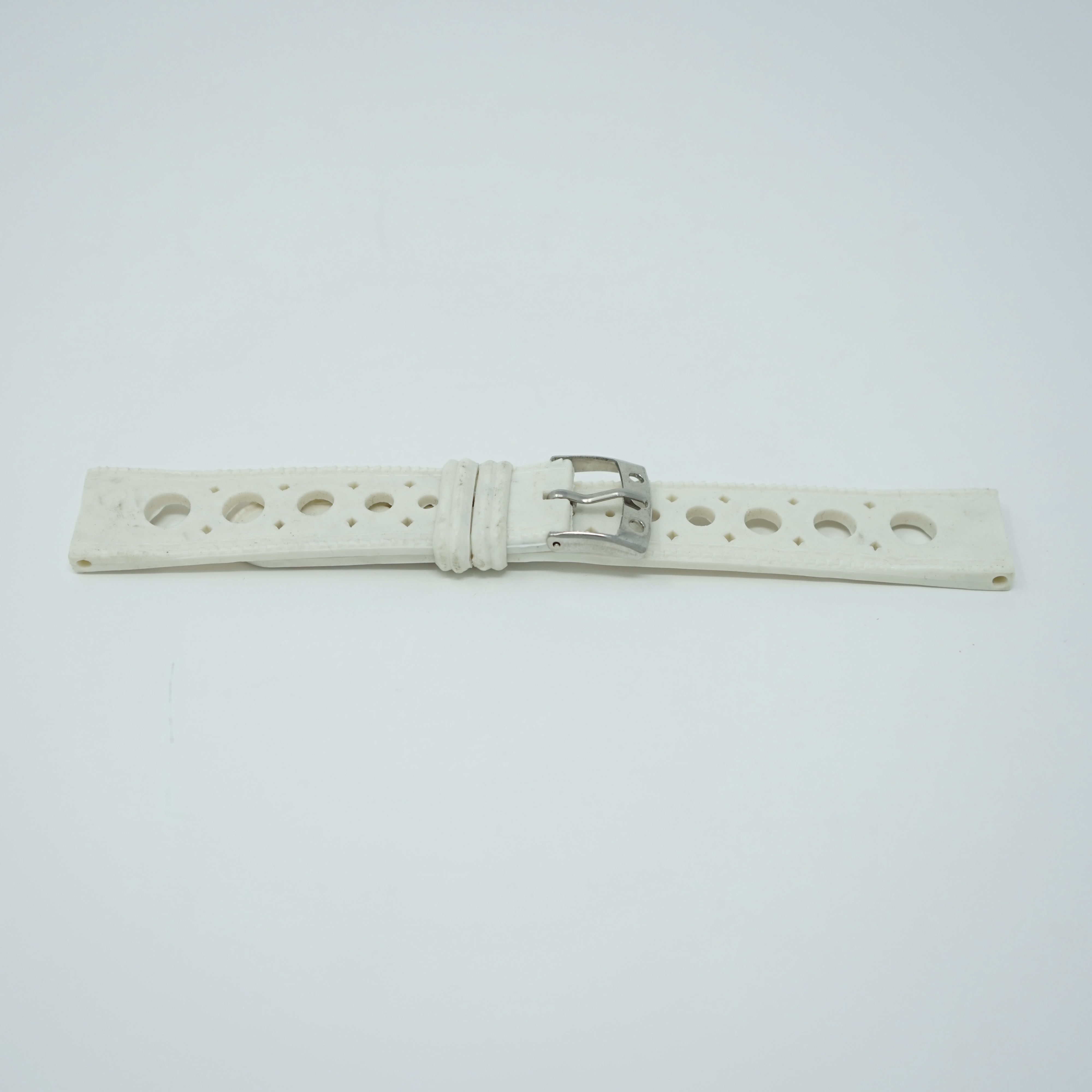 Bracelet Waterproof Blanc 18mm Style Nautic-Ski Avant