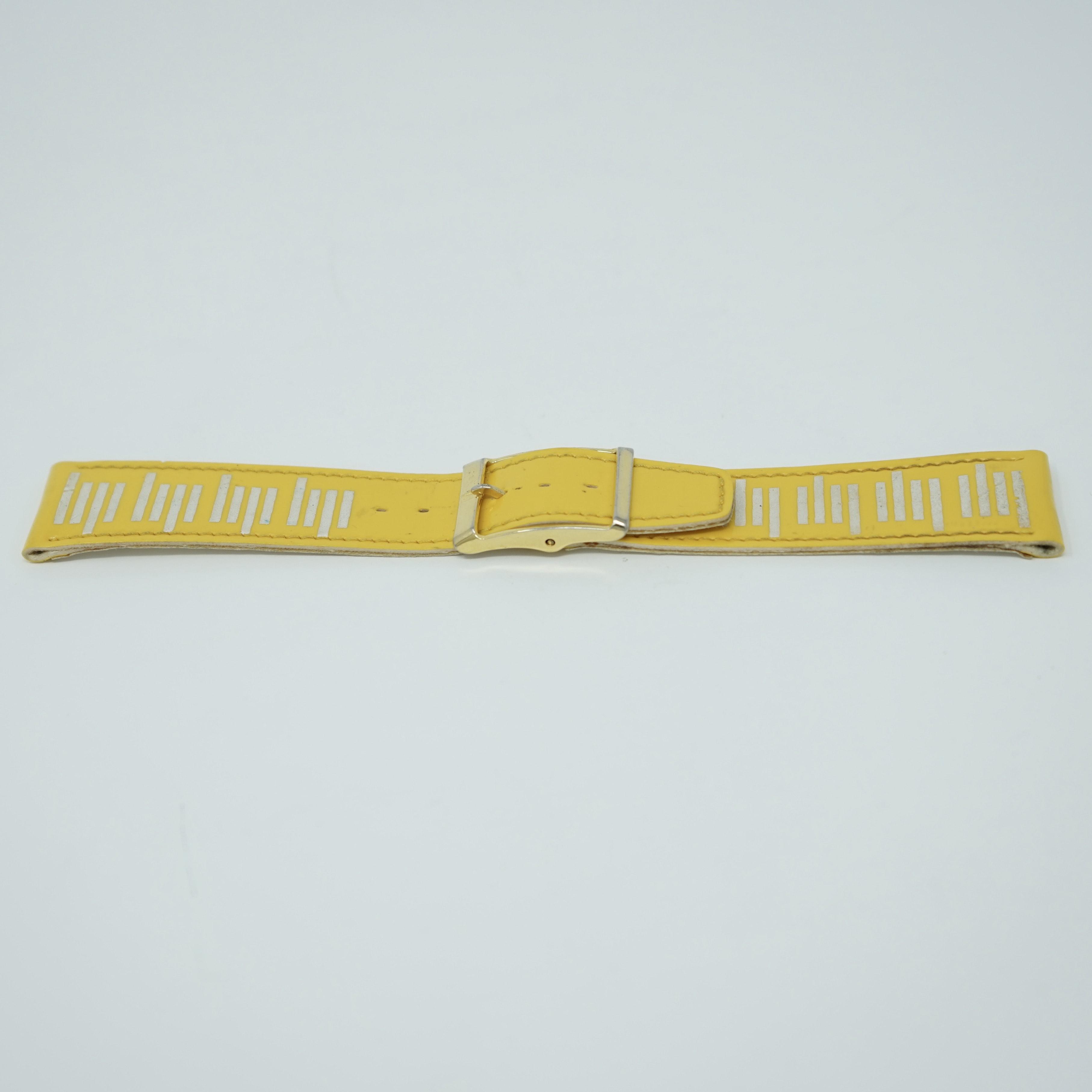 Bracelet LIP Verni Jaune 19mm Avant