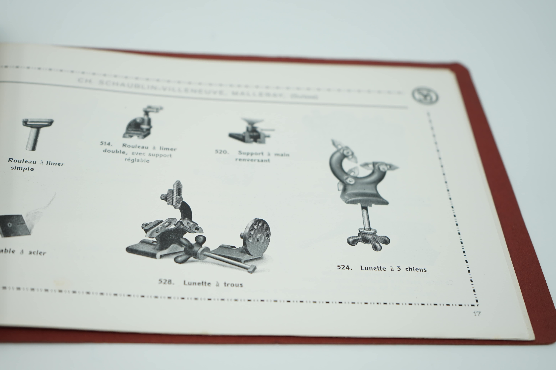 Plaquette Tours de Précision Machines pour l'Horlogerie Pinces Américaines Intérieur Bis