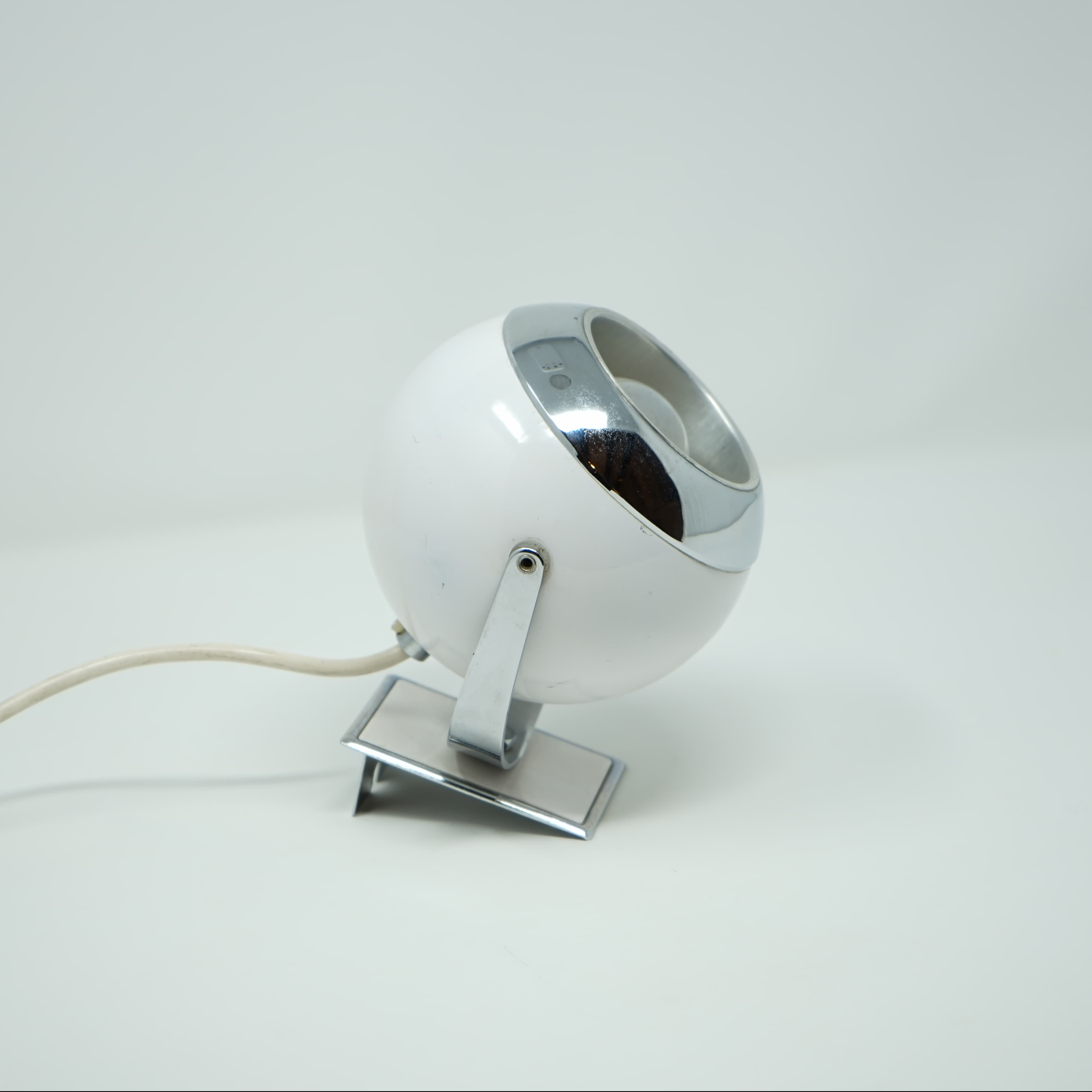 Lampe Eyeball Blanche Années 70