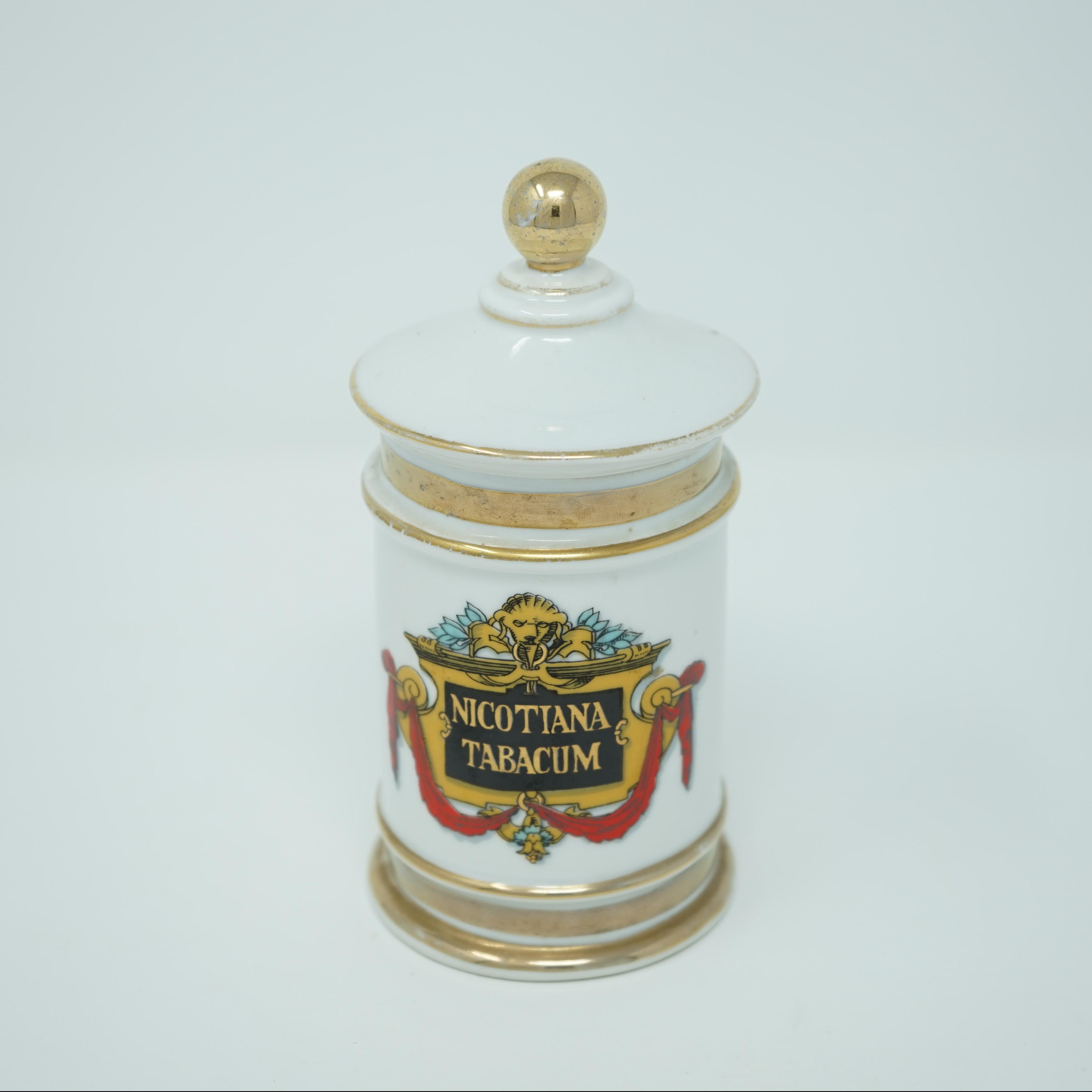 Pot à Pharmacie Nicotiana Tabacum de face