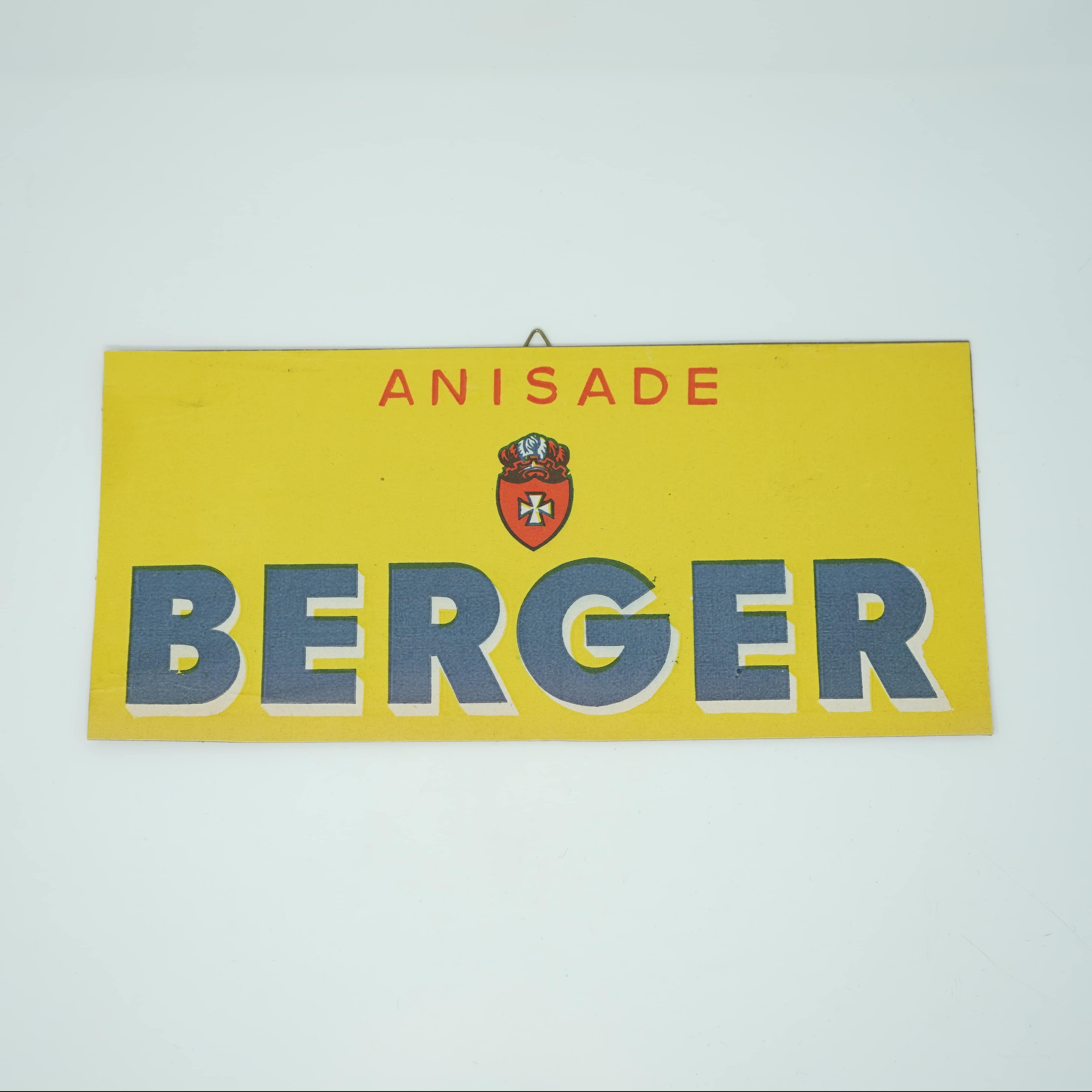 Carton Publicitaire Ancien Berger