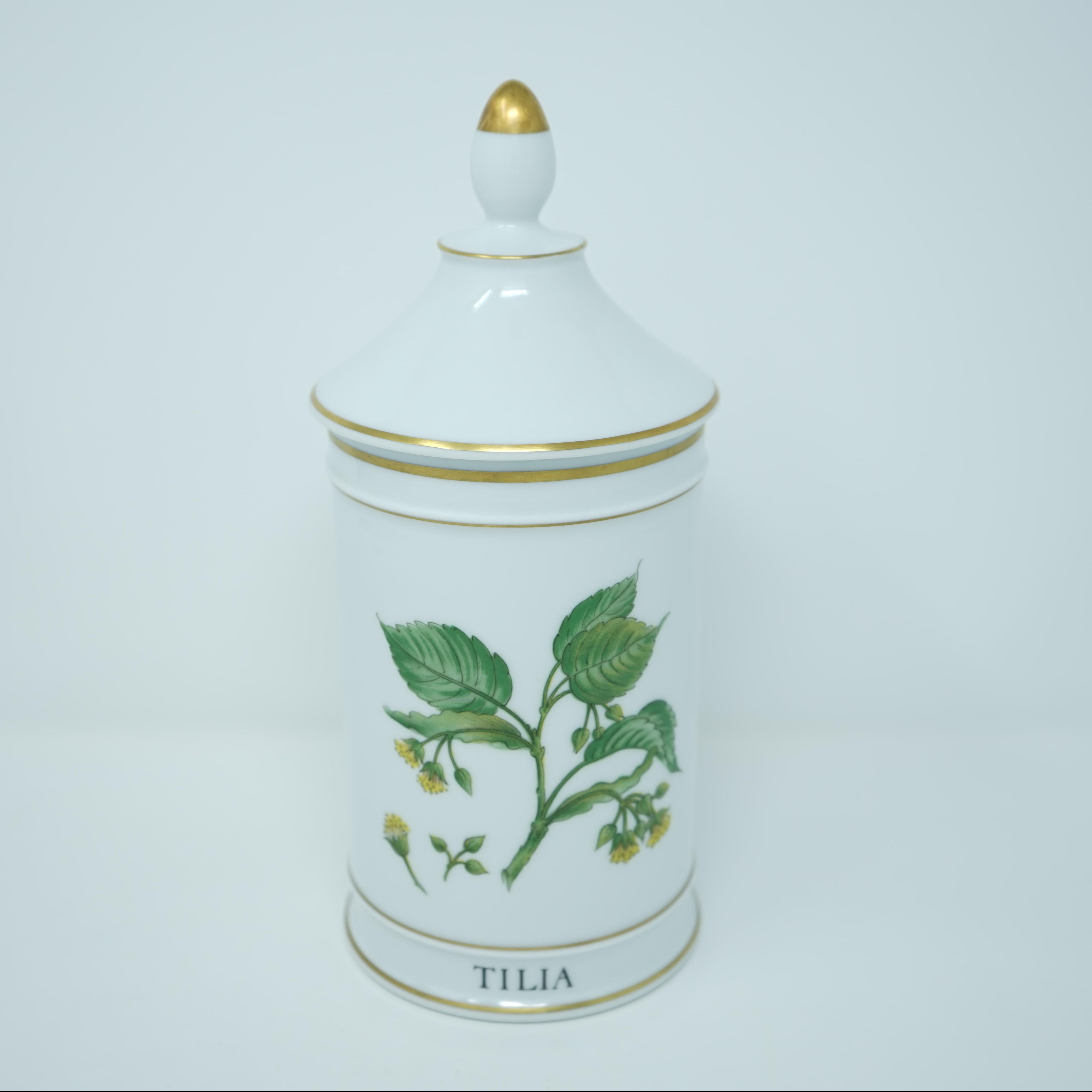 Pot à Pharmacie Porcelaine Tilleul