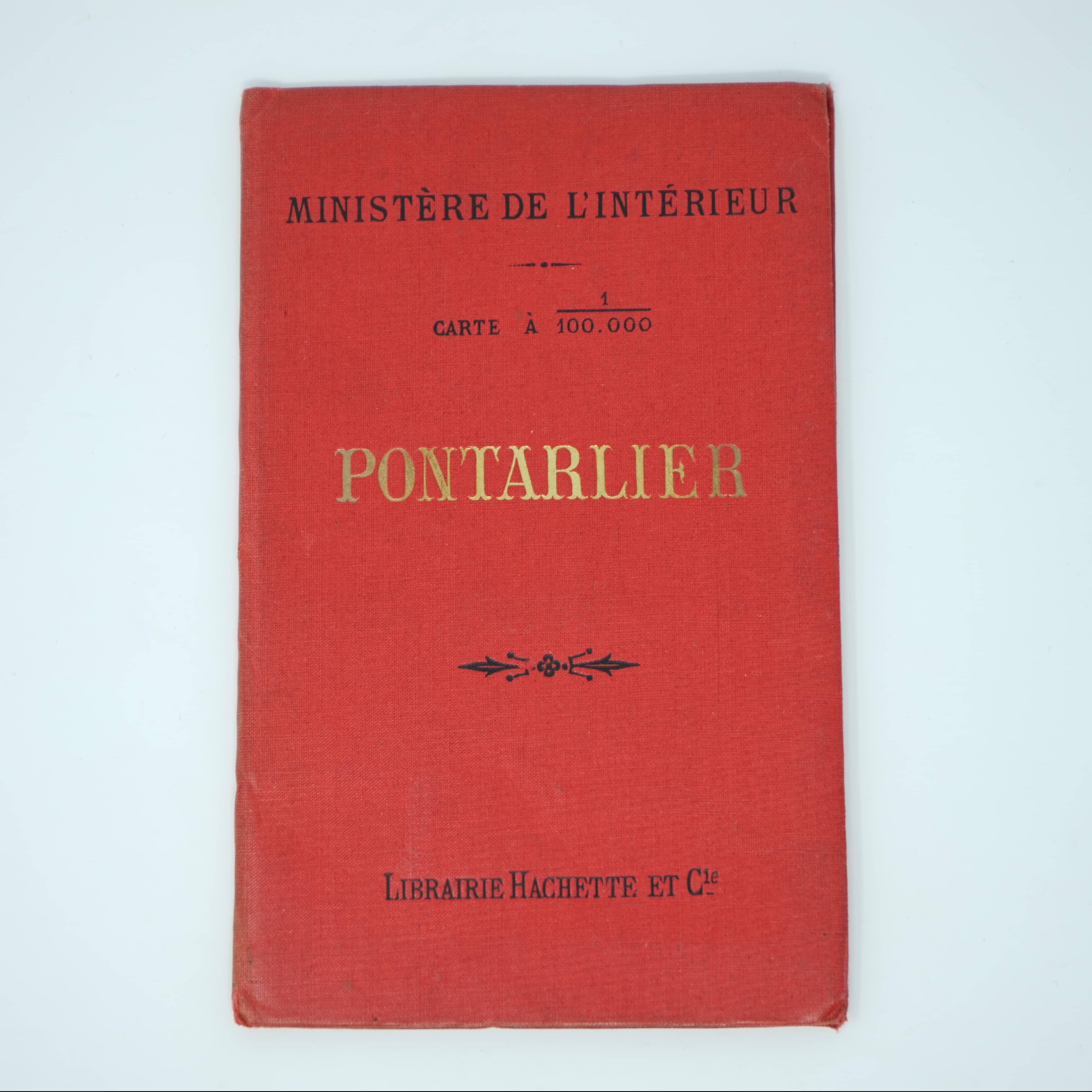 Carte Ancienne de Pontarlier couverture