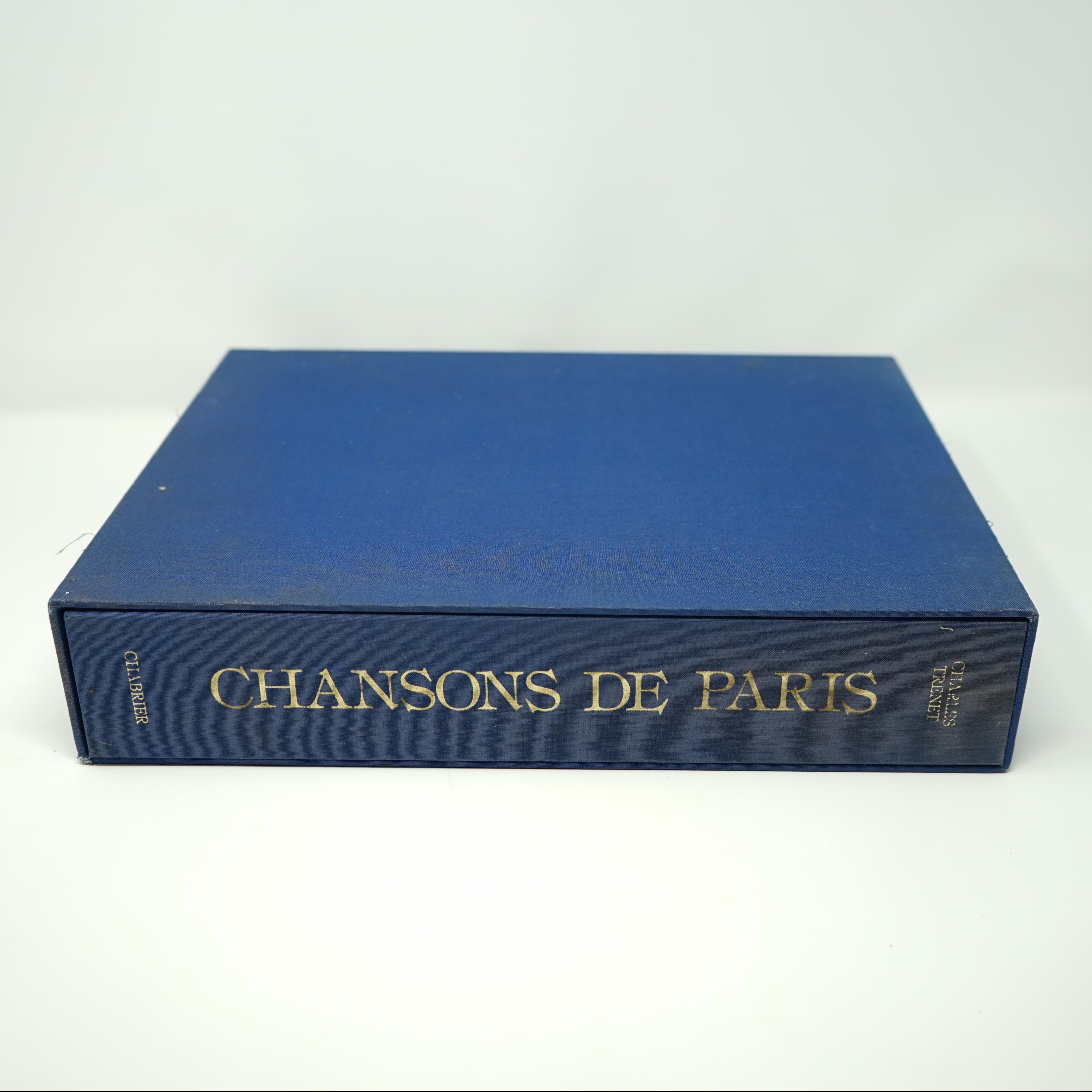 Livre Chansons de Paris de Charles Trenet