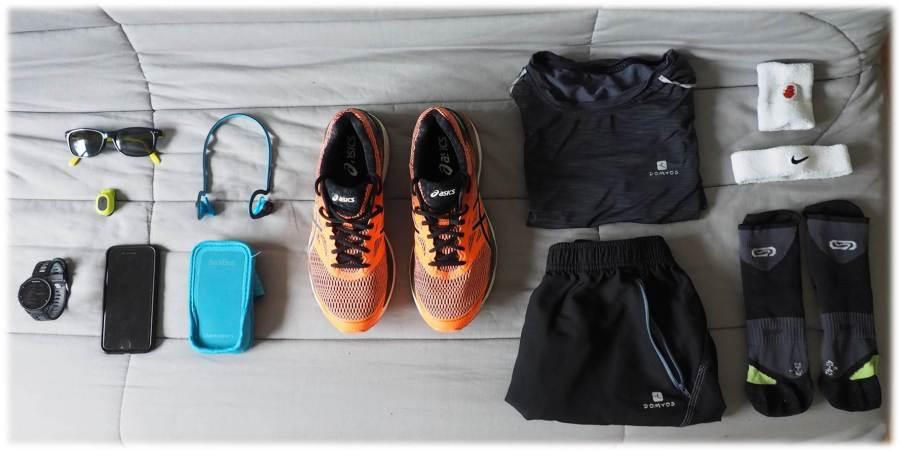 Équipement de course à pied conseillé par Julien