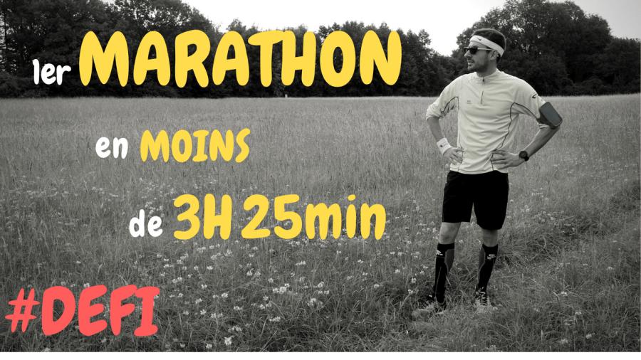 Défi 2 - 1er Marathon en moins de 3h25min