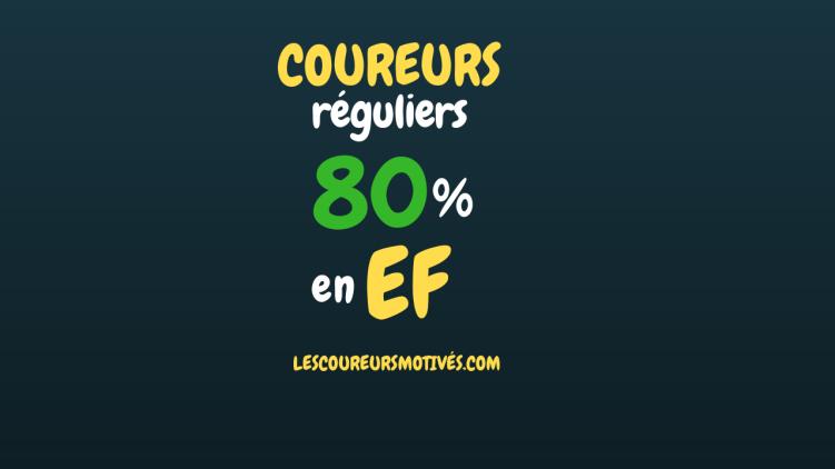 Coureurs réguliers - 80% en EF