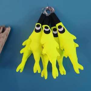 Porte-clés sardine jaune fluo