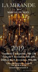 La Mirande, Avignon, marché de Noel