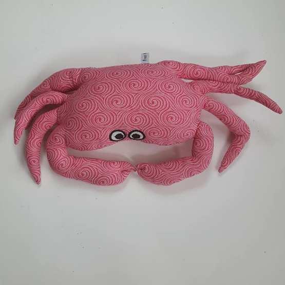 crabe-repose-tête-rose