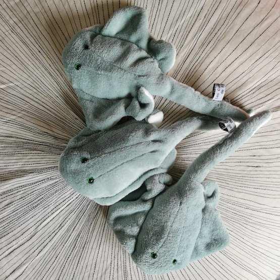 les petites raies doudous vert amande