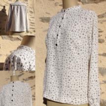 blouse en crêpe