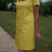robe sur mesure en coton