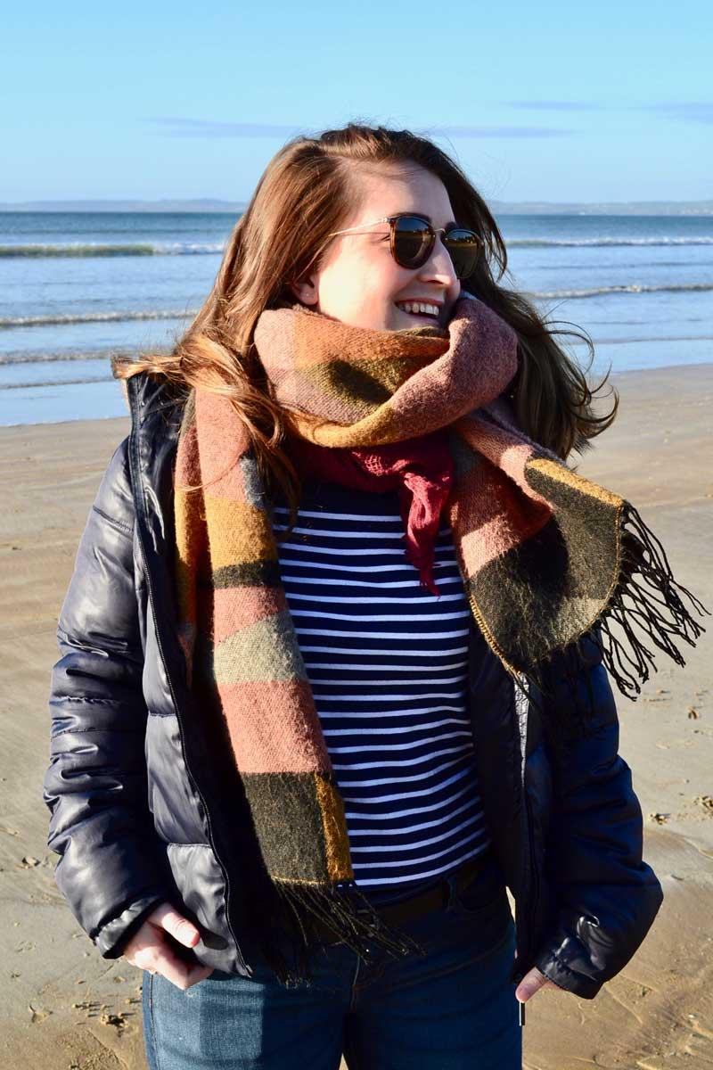 look breton marinière plage