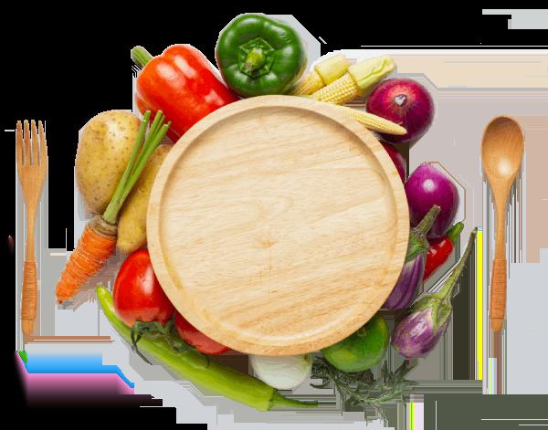 Assiette de légumes healthy