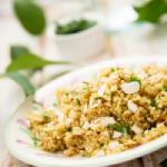 Salad bar Chez Nini : 3 quinoa, avocat, amandes effilées