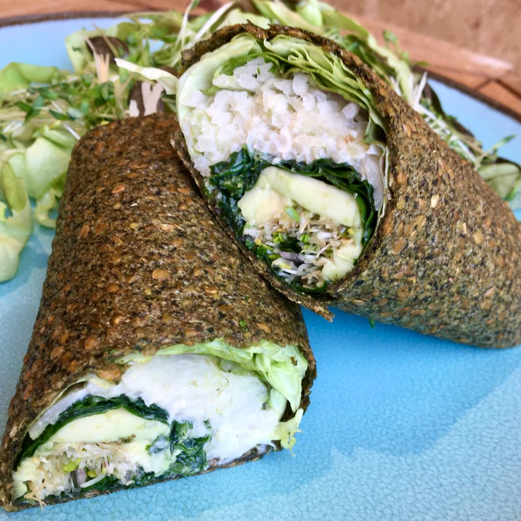 Manger un wrap végétal et savoureux