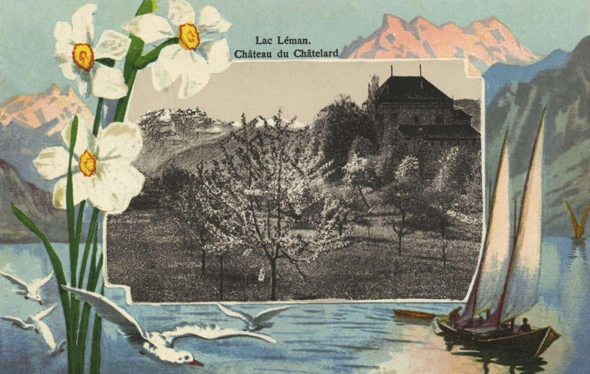 Carte postale. Lac Léman, Château du Châtelard