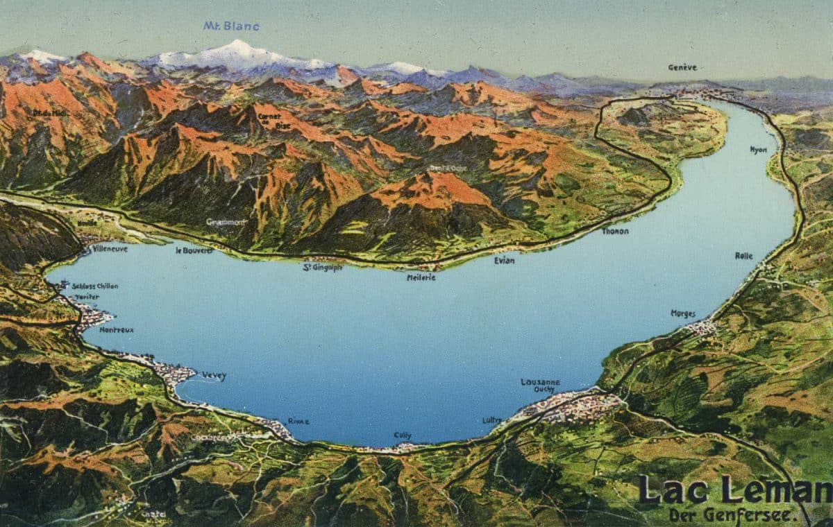 Carte postale, Lac Léman, der Genfersee