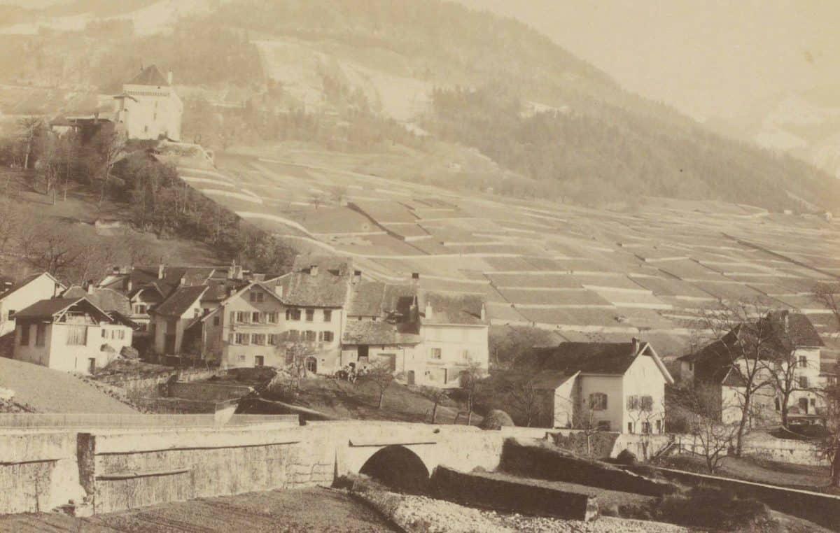 Photographie. Tavel, le Châtelard, le Cubly près Clarens