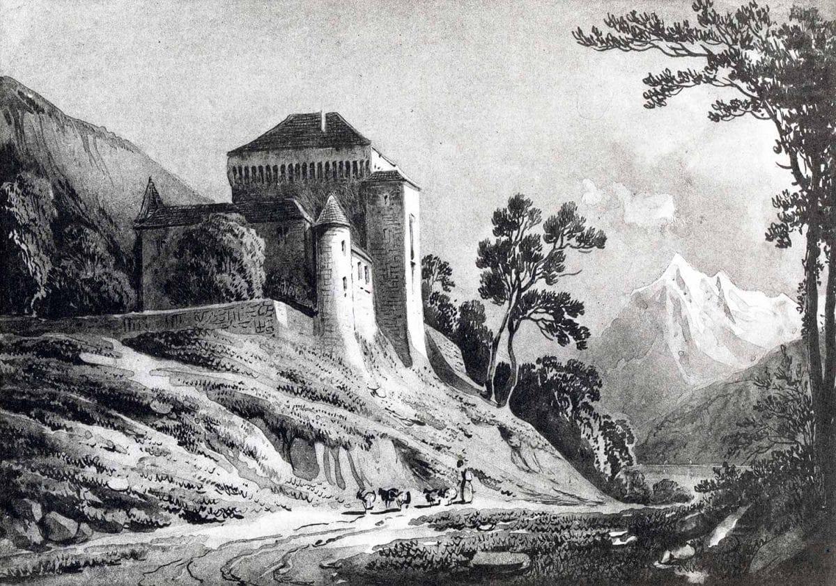 Gravure. Le Châtelard. Album de la Suisse Romande