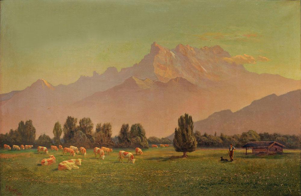 Brume d'automne, 1943. Huile sur toile 75 x 112cm. Collection privée