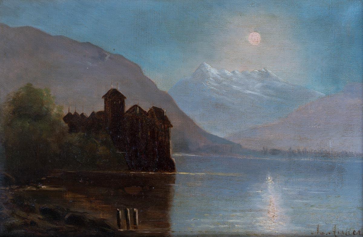 Albert Anker (1831 - 1910), huile sur toile 32 x 21cm, collection privée