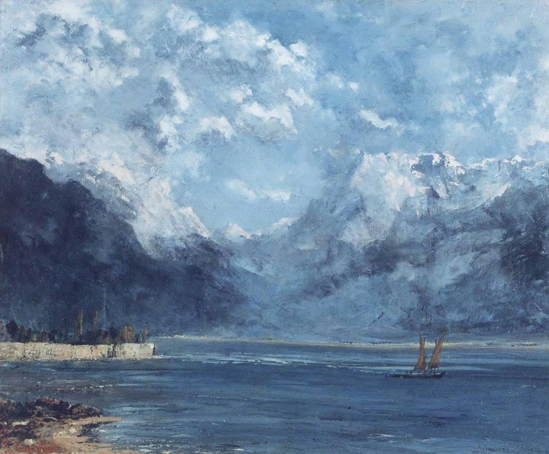Gustave Courbet (1819-1877), « La vue sur le lac Léman », 1876, huile sur toile 58 x 71,5 cm © Musée d'art et d'histoire de Granville