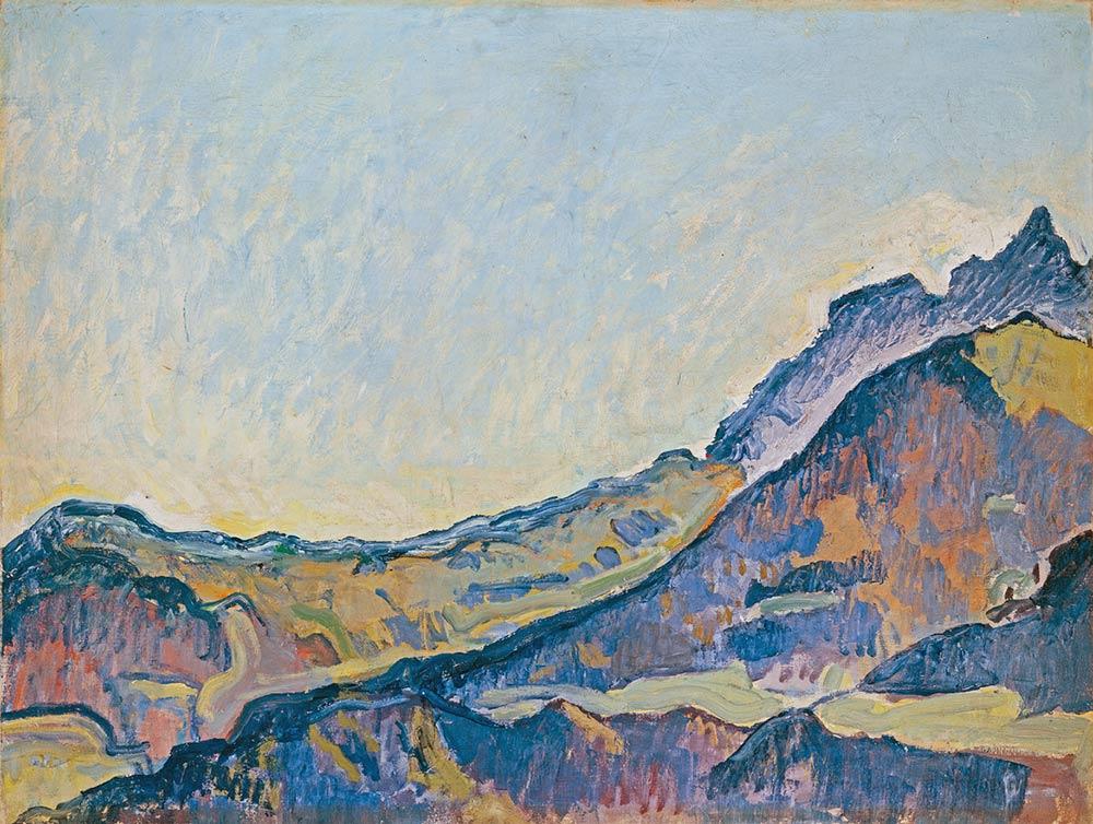 """""""Les Dents du Midi"""", 1916. Huile sur toile 54 x 71cm. © Musées d'art et d'histoire, Ville de Genève, inv. n° 1990-0043. Photographie : Jean-Marc Yersin"""