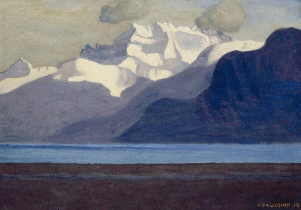 Félix Vallotton (1865-1925), Lac Léman et Dents du Midi, 1916. Huile sur toile, 38 x 54 cm. Localisation actuelle inconnue. © Fondation Félix Vallotton, Lausanne. Photo Peter Schälchli, Zürich