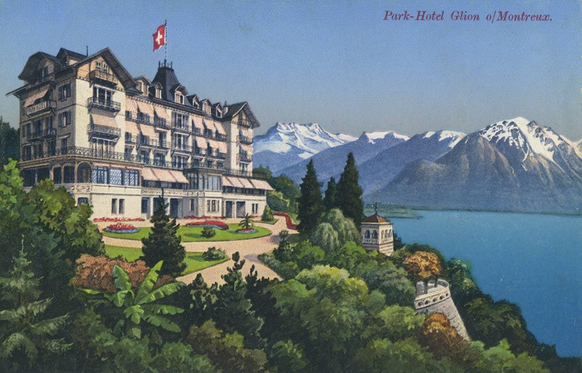 Carte postale. Park-Hotel Glion sur Montreux
