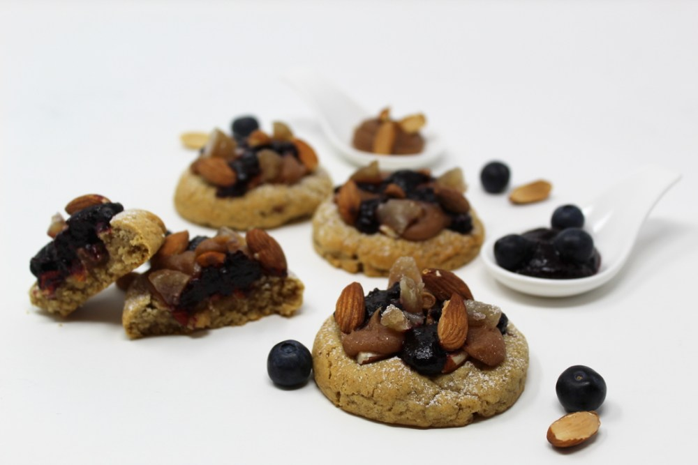 Cookies Amandes Marron Myrtille Cassis - Copie