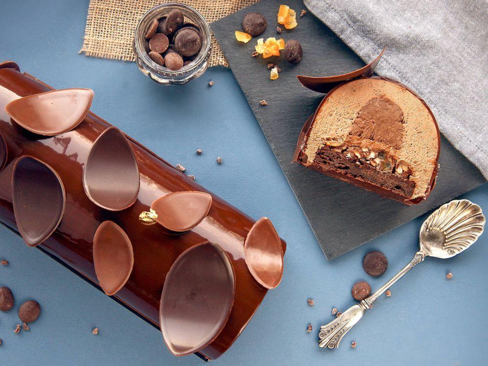 recettes bûche de noël chocolat les desserts de julien loustau