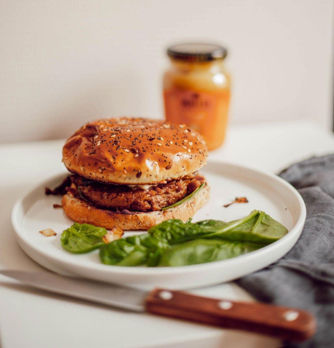 Recette burger Tossolia - Les Deux Chouettes