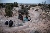 Camping devant Grand Staircase - Escalante National Monument