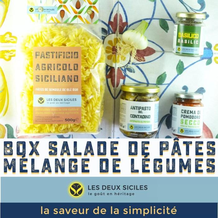 box salade de pâtes mélange de légumes