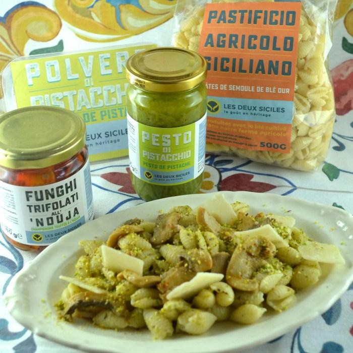 salade de pates pistache et champignon