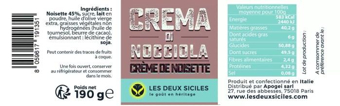 crème de noisette