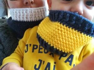 crochet snood adulte bébé