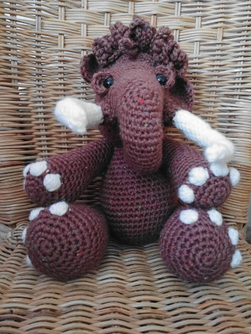 amigurumi mammouth au crochet