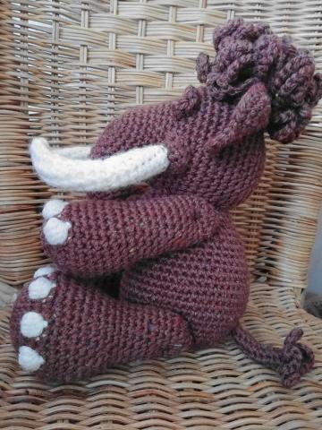 mammouth au crochet profil