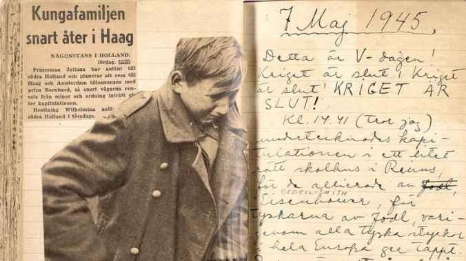 Fotografie aus dem Kriegstagebuch von Astrid Lindgren