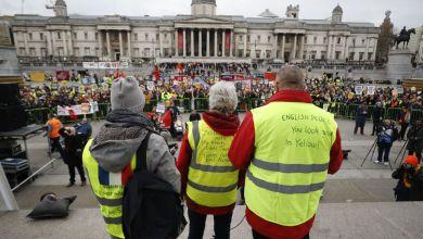 Photo de La fièvre des gilets jaune atteint Londres