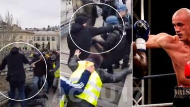 Photo de Gilets jaunes: Le «boxeur» qui a frappé des gendarmes a été identifié