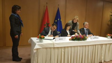 Photo de Signature à Bruxelles de l'accord de pêche entre le Maroc et l'UE