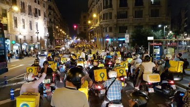 Photo de Barcelone. Manifestations contre Glovo après le décès d'un livreur